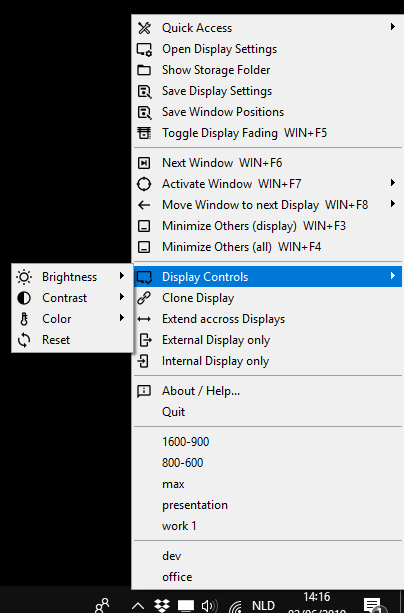 WS Display Settings Sys Tray